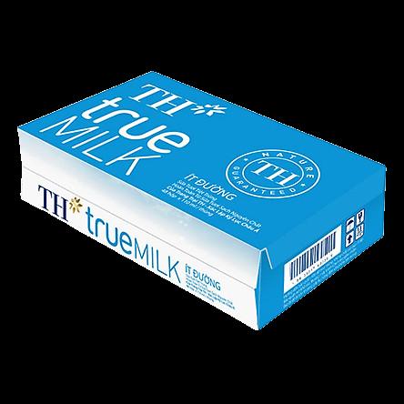Thùng 48 Hộp Sữa Tươi Tiệt Trùng Ít Đường TH True Milk (110ml/Hộp)